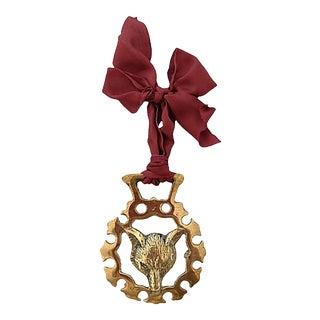 19th-C. English Horse Brass Fox Ornament For Sale