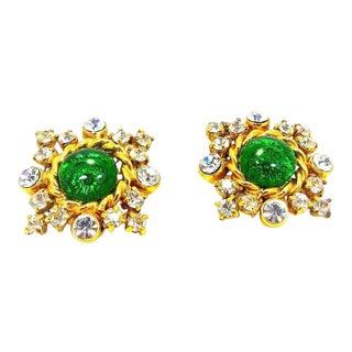 Chanel Gripoix Earrings For Sale