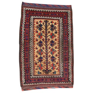 Classic Tribal Baluch Small Rug For Sale