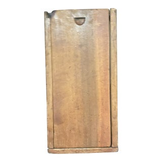 Late 20th Century Primitive Candle Box For Sale