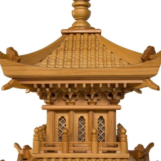 Mid 20th Century Large and Dramatic Pine Pagodas - A Pair For Sale - Image 5 of 7