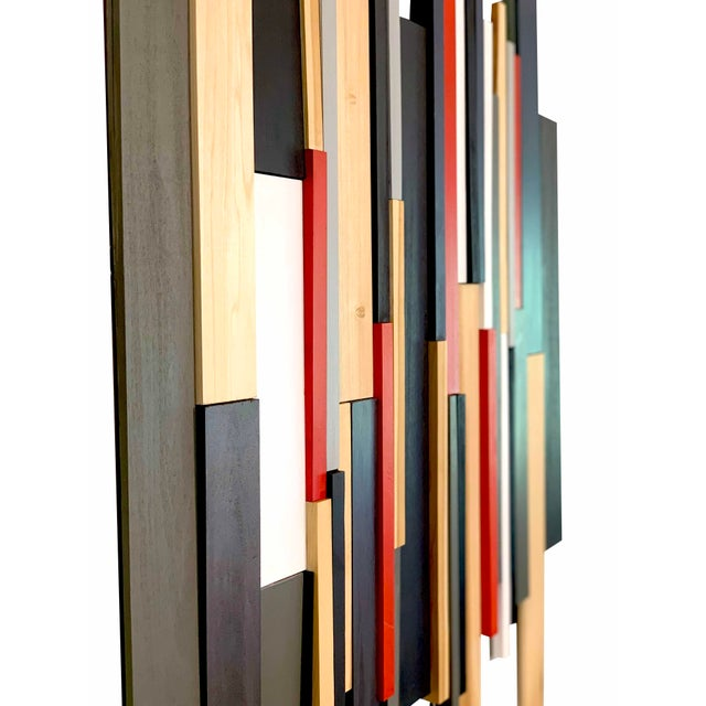 Abstract Modern Wooden Artwork For Sale - Image 4 of 5