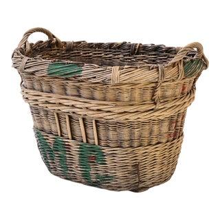 Large Grape Gathering Basket For Sale