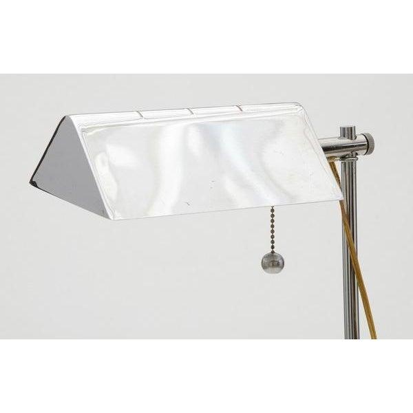 Chrome Reading/Pharmacy Floor Lamp For Sale - Image 4 of 6