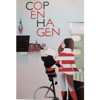 2015 Contemporary Danish Travel Poster - Copenhagen For Sale