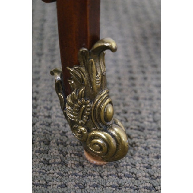 Maitland Smith Louis XV Style Brass Ormolu Side Table - Image 6 of 10