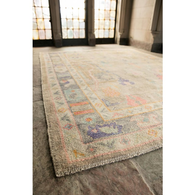 Textile 'Sezen' Modern Heirloom Turkish Oushak - 5′8″ × 7′7″ For Sale - Image 7 of 10