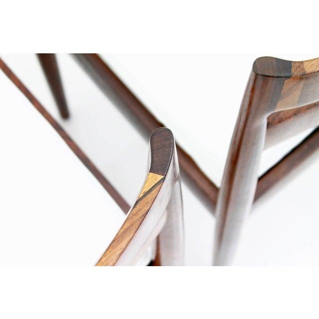 "Kai Kristiansen Dining Chairs ""Universe 301"" for Magnus Olesen Denmark 1960s For Sale - Image 12 of 13"