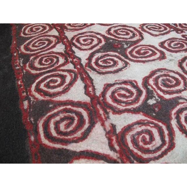 1950s Central Asian Felt Carpet For Sale - Image 5 of 9