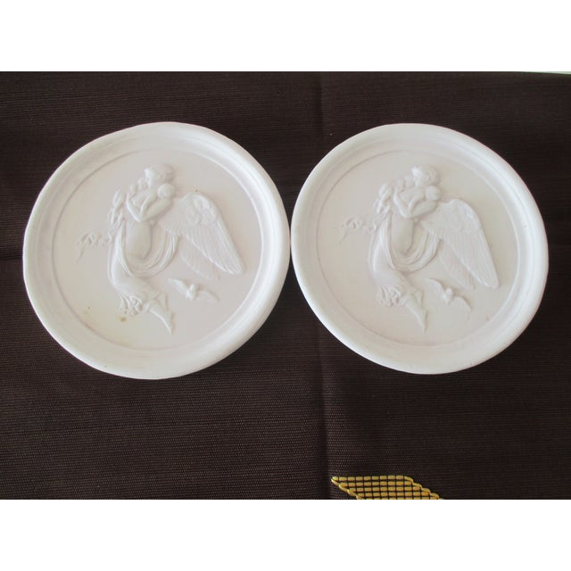 Plaster Pair of Vintage Bisque Plaster Intaglios For Sale - Image 7 of 7