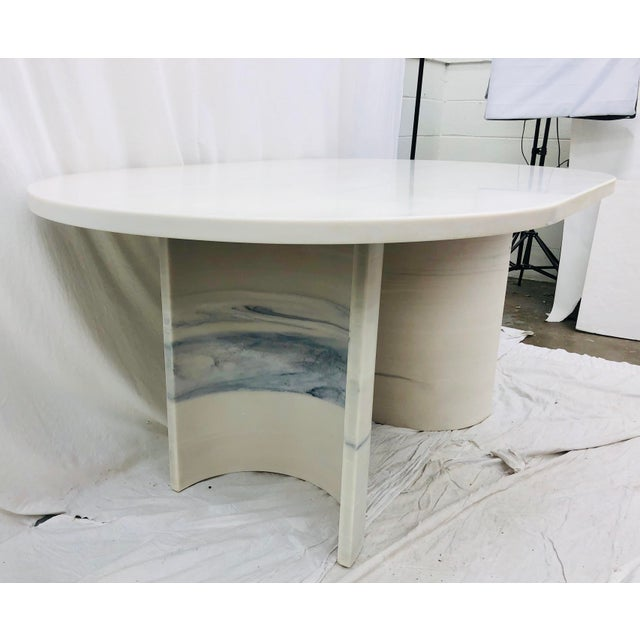 Stone Vintage Contemporary Modern Table For Sale - Image 7 of 12