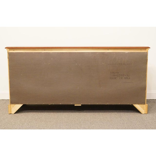 Late 20th Century Broyhill Cherry Triple Door Dresser For Sale - Image 11 of 13