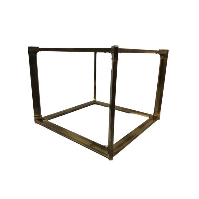 This is one of the coolest mid century brass side tables I have ever seen. It's quite large and could work as a coffee...