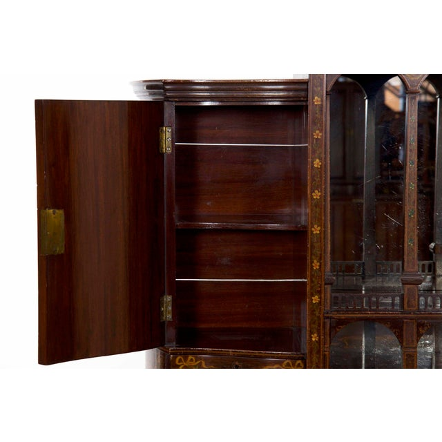 Edwardian Classical Painted Antique Console Cabinet Circa 1860-80 For Sale - Image 6 of 13