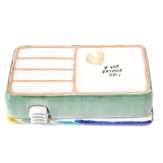 Raymor Italian Raymor Celadon Ceramic Box Ashtray Set - 5 Pc. Set For Sale - Image 4 of 5