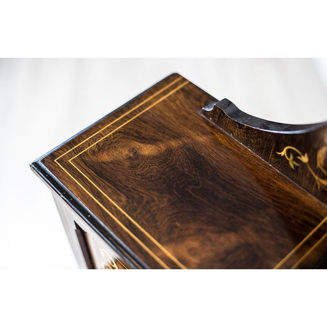 Wood 19th Century Lady's Desk Veneered with Rosewood For Sale - Image 7 of 13