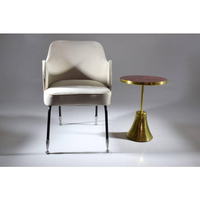 Modern Z-I-I Contemporary Brass Mosaic Side Table, Flow Collection For Sale - Image 3 of 10