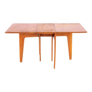 Mid Century Modern Heywood Wakefield Gate Leg Drop Leaf Dining Table For Sale