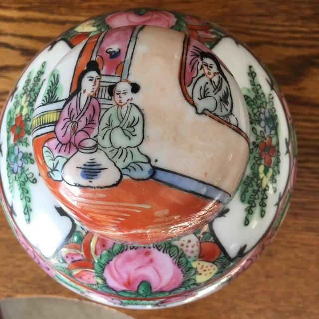 Petite Rose Medallion Ginger Jar For Sale - Image 9 of 13