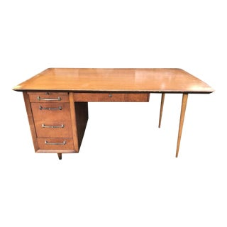 Mid Century Wooden Planner Desk For Sale