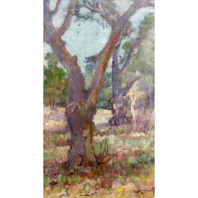 Charles Fries -Oaks & Hills Near Mussey Grade- California Oil Painting For Sale - Image 4 of 10