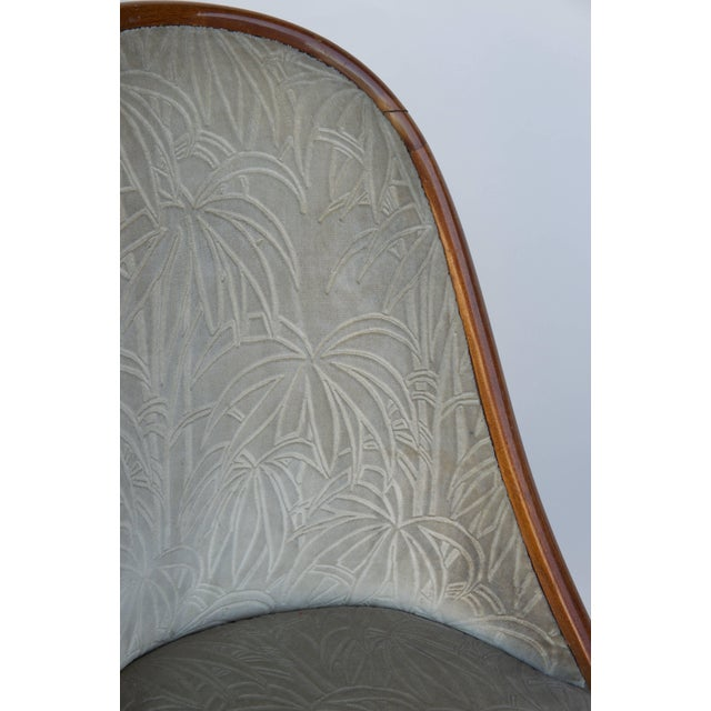 1920s Chic French Art Deco Bergère in the Style of Émile-Jacques Ruhlmann For Sale - Image 5 of 7