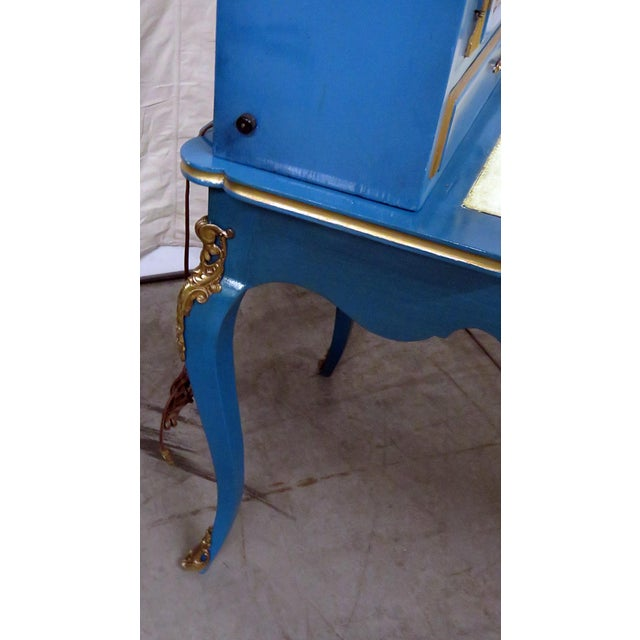 Early 20th Century Louis XV Style Leather Top Cartonnier Desk For Sale - Image 5 of 10