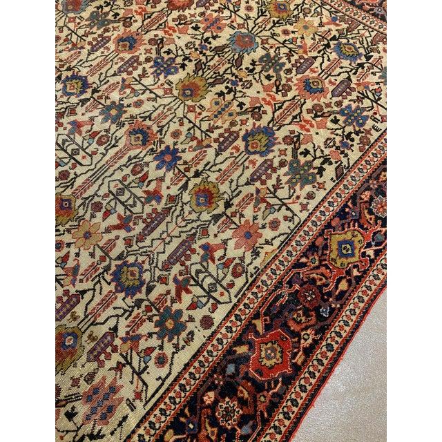 "Classic Antique Persian Sarouk Rug, 4'4"" X 6'5"" For Sale In Phoenix - Image 6 of 11"