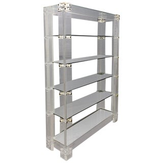 Charles Hollis Jones Style Lucite Etagere For Sale