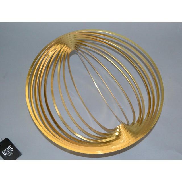 Modern Sculptural Golden Brass Rocking Bowl, Eight Mood, Sweden For Sale - Image 11 of 11
