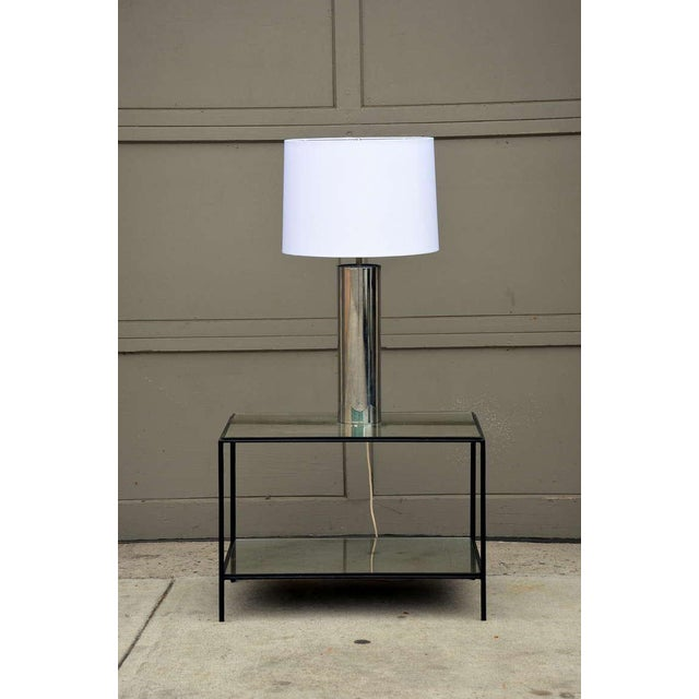 Modern 1970s George Kovacs Minimalistic Chrome Cylinder Table Lamp For Sale - Image 3 of 7