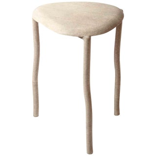 """Nesting Side Table, """"Water Lily Small"""", in Cream Shagreen by R&y Augousti For Sale"""