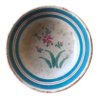 Italian Antique Ceramic Bowl From Puglia, Italy