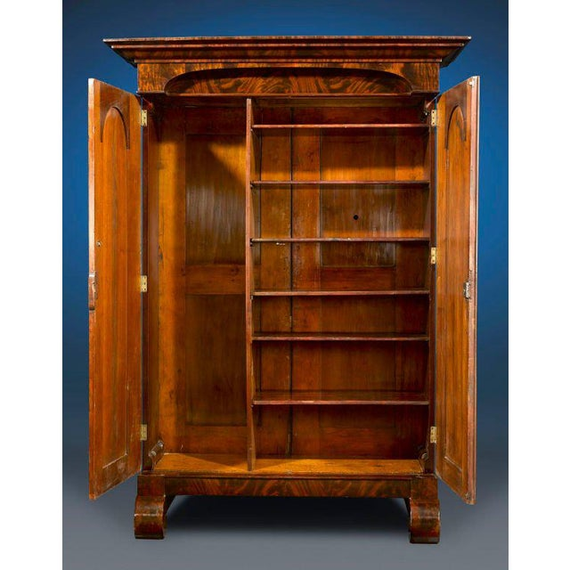 American Classical American Empire Armoire For Sale - Image 3 of 5