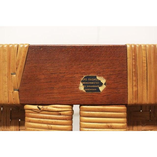 Rare Borge Mogensen Bench, Made by Erhard Rasmussen, Denmark, 1950s For Sale - Image 12 of 13