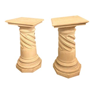 Composite Column Form Pedestals - a Pair