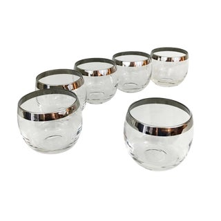 Dorothy Thorpe Style Roly Poly Glasses - 6 Pieces For Sale
