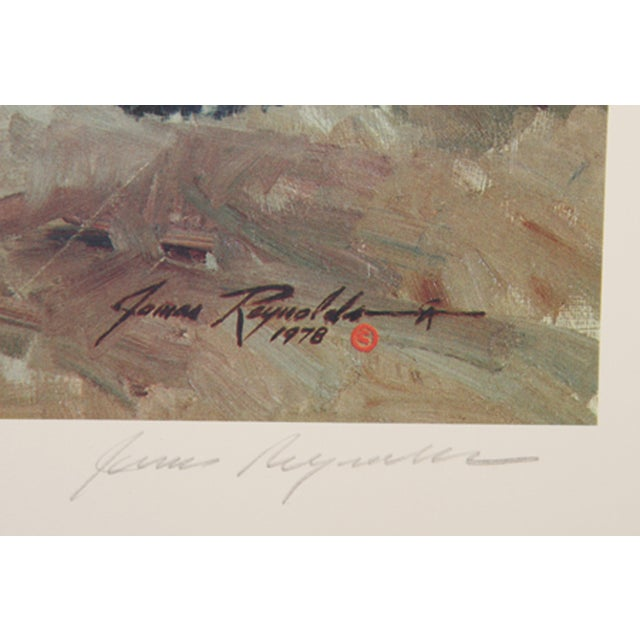 Artist: James Reynolds, American (1926 - ) Title: Crossing the Verde Year: Circa 1980 Medium: Lithograph, signed and...