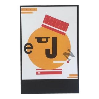 Vintage Seymour Chwast June Calendar Bellhop Pushpin Poster Print For Sale