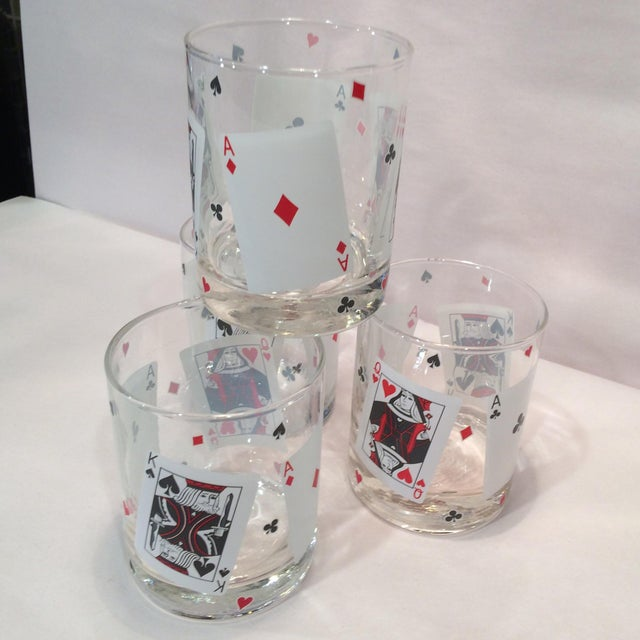 Poker Playing Card Lowball Glasses- Set of 4 - Image 11 of 11