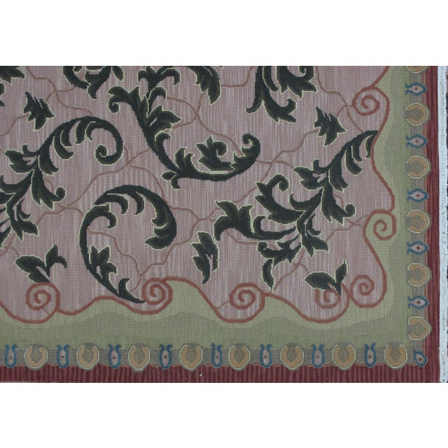 Islamic Soumak Design Hand Woven Wool Rug - 8' X 10' For Sale - Image 3 of 6