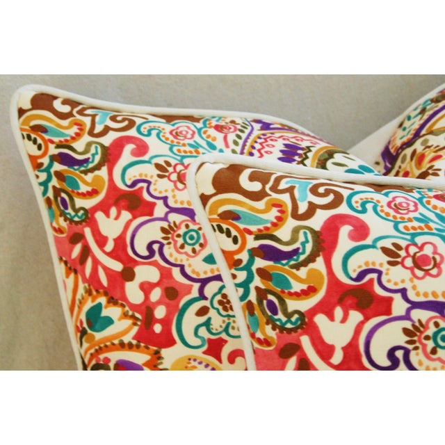 Custom Colorful Cotton & Linen Pillows - Pair - Image 9 of 11