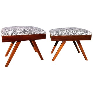Mid-Century Modern Footstools - a Pair For Sale