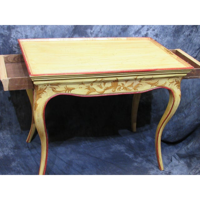 Italian Vintage Hand Painted End Table For Sale - Image 5 of 7