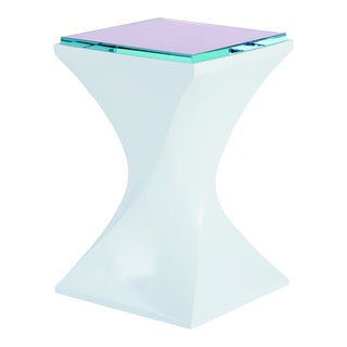 Contemporary Royal Silhouette End Table, White For Sale