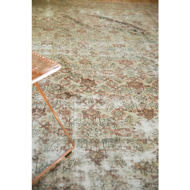 """Old New House Vintage Distressed Fragment Mahal Carpet - 7'2"""" X 9'6"""" For Sale - Image 4 of 12"""
