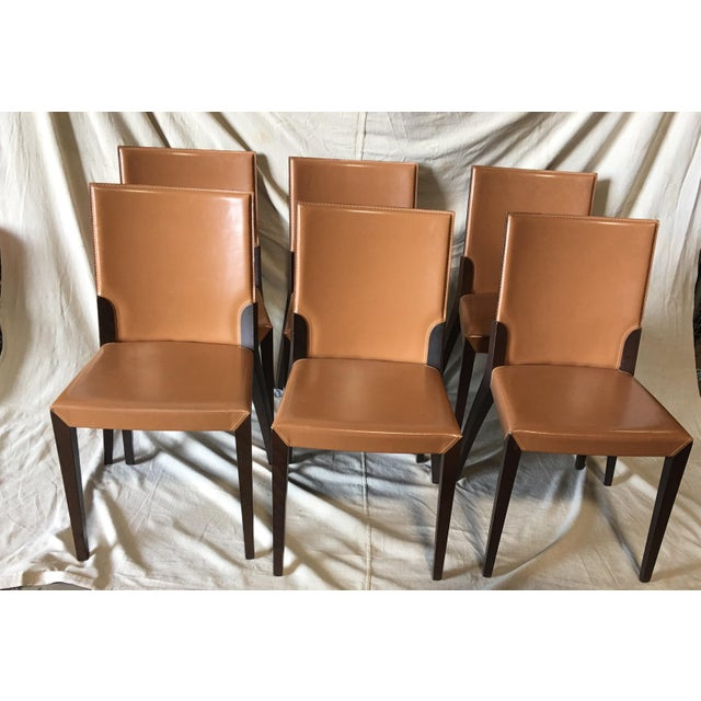 Leather Dining Chairs by Cattelan Italia - Set of 6 For Sale - Image 13 of 13