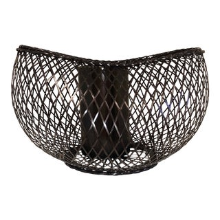 Japanese Style Bamboo Basket For Sale