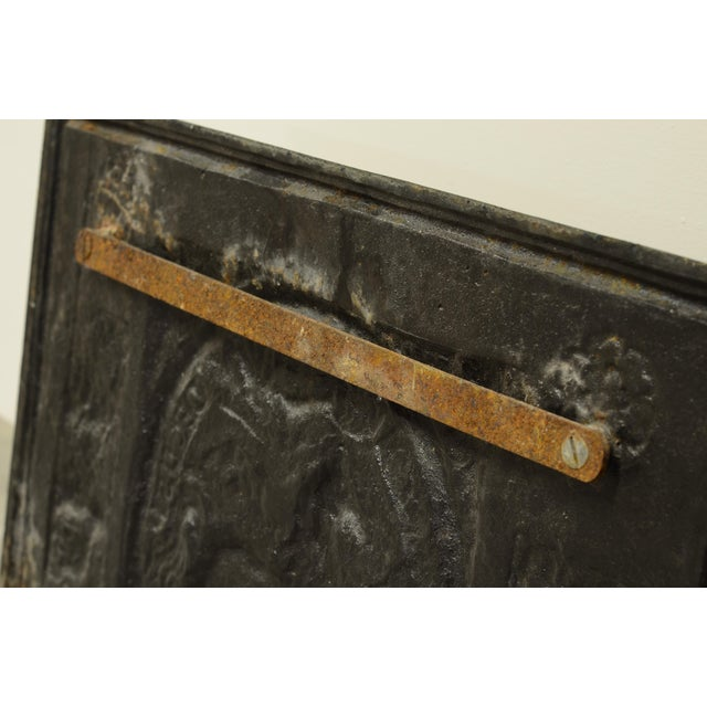 """Mid 19th Century Antique Fireback or Backsplash """"In Recto Decus"""" For Sale - Image 5 of 8"""