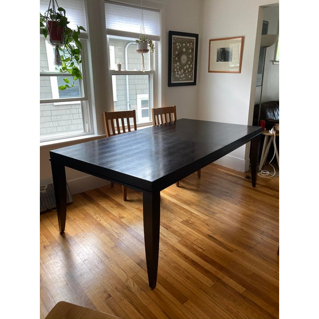 """Ebony Crate and Barrel """"Portland"""" Dining Table For Sale - Image 8 of 8"""